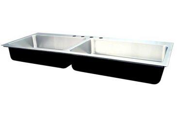 Just Manufacturing Ss Dbl Sink W Ledge 21x37 Dl2137agr