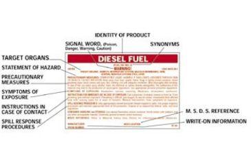 National Marker CONT  Label Methyl Alcohol HC270   National Marker