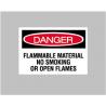 National Marker Sign Danger No Smoking 10X14 D-117-RB