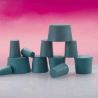 Plasticoid Green Neoprene Stoppers, Solid 3--M350