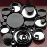 Qorpak Black Phenolic Screw Caps, Pulp/Tinfoil Liner, Qorpak 5131/12