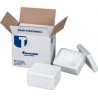 Tegrant Thermosafe ThermoSafe Thick and Thin Wall Insulated Shippers, Expanded Polystyrene, ThermoSafe Brands 499 Thin Wall, Assembled Foam Unit In Corrugated Carton