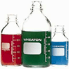 Wheaton Media Bottles, Graduated, Wheaton 219819 With Fluoropolymer Resin-Lined Cap