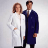White Swan Unisex Polyester/Cotton Lab Coats, White Swan-Meta 6116-11-M